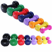 Vinyl Dumbbell Set Solid Aerobic Training Weights Strength Home Dumbbells Gym