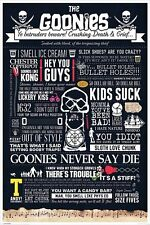 THE GOONIES MOVIE POSTER (61x91cm) INFOGRAPHIC PICTURE PRINT NEW ART
