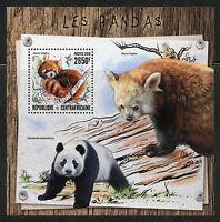 CENTRAL AFRICA  2016 PANDAS  SOUVENIR SHEET MINT NH