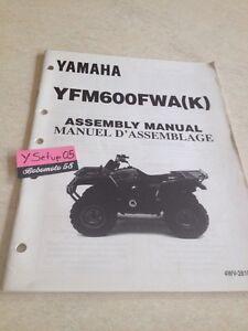 Yamaha YFM600FWA K 98 YFM600 Fwa Quad YFM Setup Manuell Montagesatz Präparat