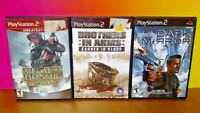 Medal Honor, Syphon Filter , Brothers in Arms  - PS2 PlayStation 2 - 3 Game Lot