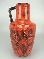 60er 70er Jahre Vase Blumenvase Keramik Keramikvase Bodenvase Fat Lava Space Age