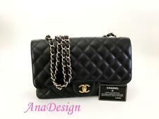 Authentic Chanel Classic Jumbo Black Caviar Leather Single Flap Bag GHW