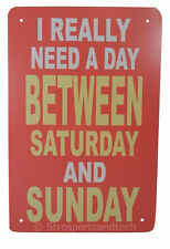 Weekend Tin Sign Bar Cafe Diner Garage Pub Wall Decor Retro Metal Art Poster New