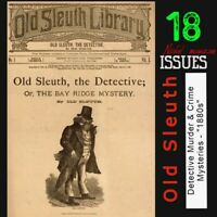 Old Sleuth Library   Detective , Murder & Crime nickel street paper 1800s