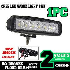 18W LED Flood Beam Work Light Bar Driving DRL Fog Lamp 4WD SUV UTE ATV Off-road