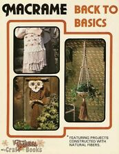 Macrame Back to Basics Taurus Publishing Vintage Instruction Book 1978 New