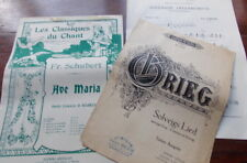 GRIEG  SHUBERT   LOT 2 PARTITIONS ANCIENNES  CHANT ET PIANO +1 PARTITON GUITARE
