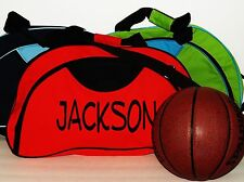 Large Canvas Duffel Bag - Personalized - Red, Green or Blue