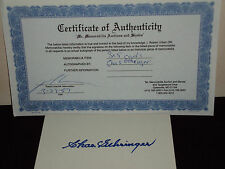 3X5 SIGNATURE CARD CHARLES GEHRINGER (COA INCLUDED)