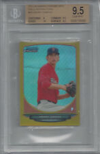 2013 Bowman Chrome Mini GOLD Refractor HENRY OWENS RED SOX 30/50 BGS 9.5