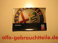 Alfa 156 Handbuch Bedienungsanleitung Autoradio bis 2001 (CR)