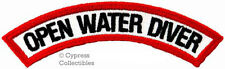 New listing OPEN WATER DIVER CHEVRON SCUBA DIVING iron-on DIVE CERTIFIED PATCH embroidered