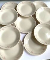 "Set of 12 Corelle English Breakfast 6 3/4"" Plates Pink Blue Flowers Corning Ware"