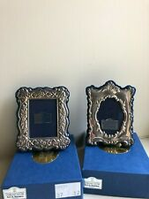 More details for pair of victorian style miniature hallmarked silver photo frames byari d norman