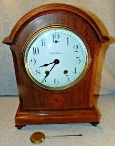 Vintage Seth Thomas Wooden Mantel Clock w/ Pendulum Brass Movement