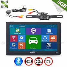 "XGODY 7"" 8GB SAT NAV Bluetooth Car GPS Navigation+Wireless rearview Camera AV-IN"
