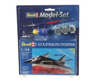 64037 Revell F-117 A Stealth Fighter Aircraft Model+Paints Kit Boxed 1:144 04037