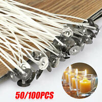 50/100PCS Candle Wicks 6 Inch Cotton Core Candle Making Supplies Pre Tabbed NEW