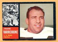 1962 Topps Football # 83B Frank Varrichione (VG-EX) Lot 701 -- Los Angeles Rams