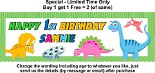 Birthday Party Banner Paper Sign Poster Personalised - any age, text - DINOSAUR
