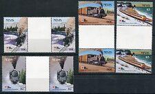 Nevis 1991 Locomotive e treni in coppia II°serie  mnh