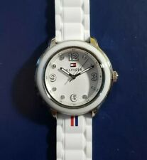 Tommy Hilfiger 1781418 Watch With 36mm White Face & White Silicone Band.