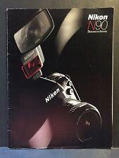 Genuine Vintage 1993 Nikon N90 Advertising Sales Brochure Manual 35 pgs Digital