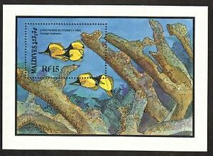 Maldives Stamp - Long nosed butterfly fish Stamp - NH