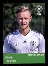 Cedric Teuchert  DFB Autogrammkarte U 21 2018 +A 181601