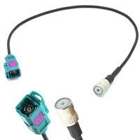 Auto Antennen Adapter FAKRA Buchse (f) auf ISO 50 Ohm Buchse (f) für Audi VW BMW