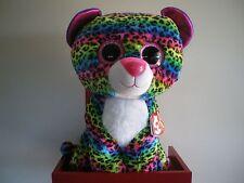 Ty 36837 Dotty Glitter Eye Pink Leopard 42 Cm Glub Sliding Beanie Boo S