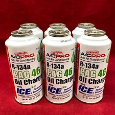 QTY 6: A/C PRO Auto Air Conditioning Oil Charge PAG 46 W/ ICE 32 Low Viscosity