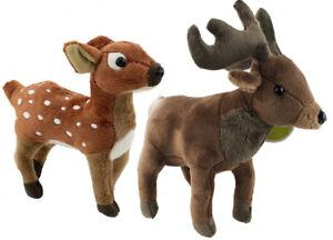 2X PLUSH REINDEER toy santa sleigh teddy ruldolph soft stuffed animal christmas