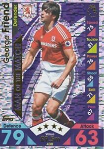 Topps Match Attax 2016/2017 George Friend Man Of The Match 16/17 Trading Card