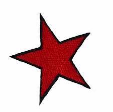 Red STAR IRON ON patch alternativa Retrò Giacca Denim Toppe Emo Punk Russo