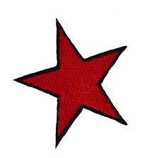 Red STAR IRON ON patch alternativa Retrò Giacca Denim Toppe Emo Punk Russo