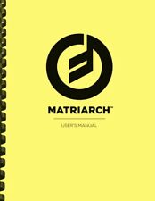 Moog Matriarch Analog Synthesizer OWNER'S MANUAL