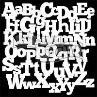 "The Crafter's Workshop Set of 2 Stencils - Alphabetica - 12x12"" Lg & 6x6"" Mini"