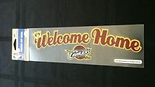 """LEBRON JAMES CLEVELAND CAVALIERS """"WELCOME HOME"""" PERFECT CUT DECAL 3""""X10"""""""