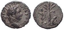 Titus, as Caesar AD 76-78. Judaea Capta commemorative Ar Denarius. Antioch