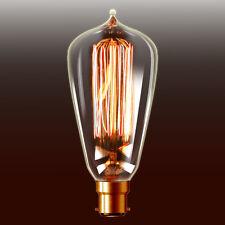 NEW 3 pcs x Edison Carbon Filament Bulb B22 Pearl Shape [RM-T64-145-B-3]