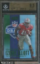 2016 Score NFL Draft Green Ezekiel Elliott Cowboys RC Rookie 13/20 BGS 9.5 w/ 10