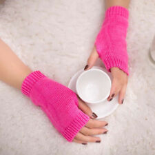 Women Girl Knitted Arm Fingerless Warm Winter Gloves Soft Warm Mitten Hot