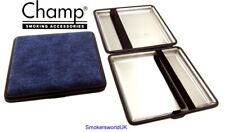 Cigarette Case -- Champ Canvas Blue 20 King Size -- NEW chks33