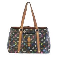 Louis Vuitton Black Multicolor Aurelia MM Tote Bag