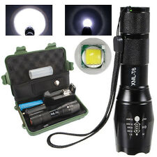 1000LM Zoomable XML T6 LED Survival Flashlight Torch +18650 Battery+Charger