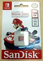 New SanDisk 128GB UHS-I microSDXC Memory Card for Nintendo Switch