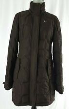 Abercrombie Fitch Womens Brown Puffer Down Parka Quilted Jacket Coat Sz Medium