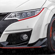 Honda Civic Type R Demon Devil Eye Headlight Decals EP3 FK8 FK2 FK3 FN2